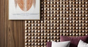 Decorative wooden panels prism from the designer