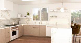 Latest work: 3D render of kitchen renovation, Marin County, California. Follow for