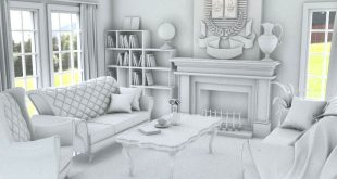 Interior design, interior lighting and ambient occlusion.