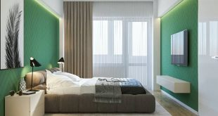 Design and visualization of the bedroom. 3dsmax, Vray, Photoshop.