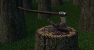 An axe  Created with 3DS Max, Substance Painter, Photoshop and Maya