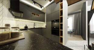 Kitchen in the loft house ... Design & render . . . . . .