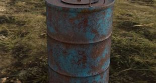 Oil drum Software used=max. 3ds, substance painter.