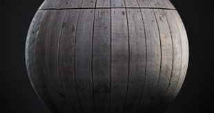 Scanned seamless wood planks texture outdoors for anyone using a rendering engine