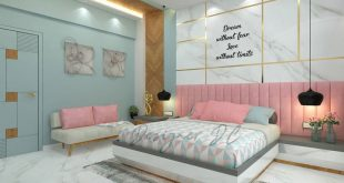 The joy of living the best. Pastel color palette for a cozy master bedroom ... . .