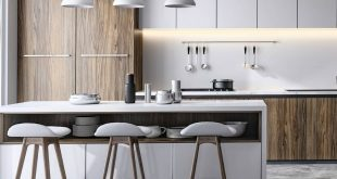 Another kitchen line according to reference with the facades of the customer 3ds max / VRay, Ps