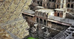 Chand Baori is a stepped fountain in the village of Abhaneri in the Indian state