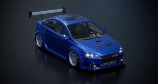 I modeled the Evo x concept about 5 years ago.  Was never happy with the renderings, however