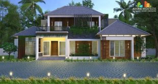 Proposed residential building designed by in Kattapana, Idukki Category: Resi