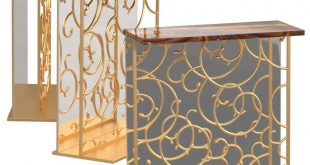Decorative console table with mirror and onyx. 3ds max modeling Corona Rende