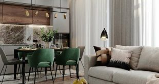 Let's hit the green And spring is already there Stylish 25 square meters, Moscow
