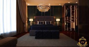 Luxurious bedroom designed by