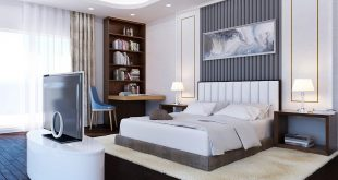 """Master bedroom - conversion from a golden classic style to a modern """"hotel"""""""