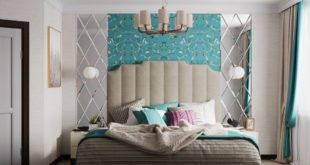 """Visualization of the design project of a 4-room apartment in Moscow region """"Bedroom"""" 3D Rendering"""
