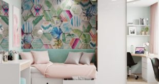 """Visualization of the design project of a 4-room apartment in Moscow region """"Children's""""  Design and 3D-in"""