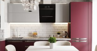 """Visualization of the design project of a 4-room apartment in Moscow region """"Kitchen""""  Design and 3D visas"""