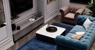Continuing the post about an interior with restrained colors. In fact, there is enough