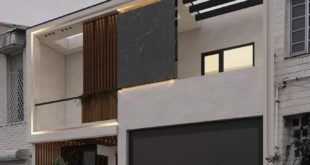Three-dimensional design of a two-level residential building on Jomkhori street M. style design
